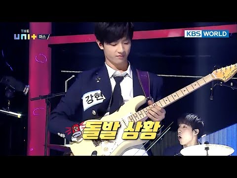 Oops! Band MAS's extreme performance causes guitar string to snap [The Unit/2017.12.20]