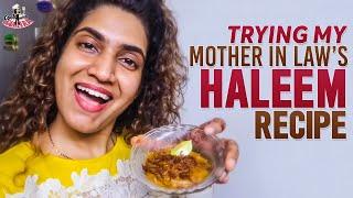 Making Haleem video by TV actress Sameera Sherief..