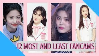 Produce 48 Top 12 Most and Least Viewed Group Evaluation Fancam