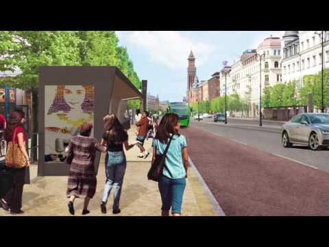 Så här blir det när vi bygger om Drottninggatan och Järnvägsgatan
