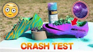 CRASH TEST : REPEINDRE SES CRAMPONS DE FOOTBALL ! ⚽⛔