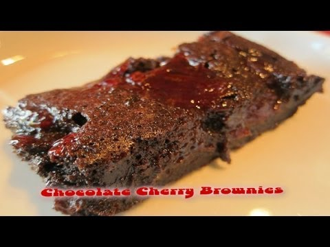 Chocolate Cherry Brownies  ❤ A Valentine's Day Recipe By Rocky Barragan - Smashpipe style