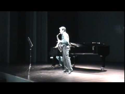 Richard Ducros,alto saxophone plays Au Bonheur des Dames by Jean Matitia