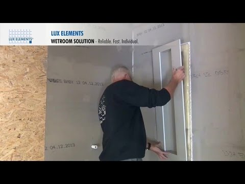 LUX ELEMENTS Installation: Wetroom Solution – Niches (for North America)