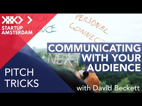 Pitch tricks #2 Communicating With Your Audience - David Beckett - Amsterdam Capital Week Prep photo