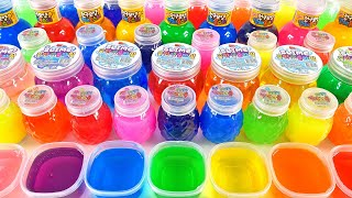 Satisfying Video l Mixing All My Slime Smoothie l Making Glossy Slime ASMR RainbowToyTocToc