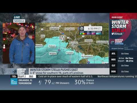 Mike Seidel The Weather Channel Nashville Snow/Cold Running 3-11-2017