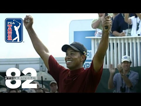 Tiger Woods wins 2003 WGC-American Express Championship Chasing 82