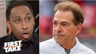 Stephen A. isn't closing the door on Nick Saban's dominance with Alabama | First Take
