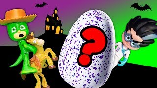 Whats Inside PJ Masks Romeo Spooky  Surprise Egg with Paw Patrol and Toy Story