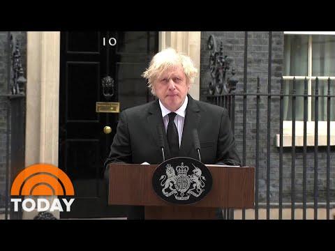 British Prime Minister Boris Johnson Addresses Death Of Prince Philip | TODAY