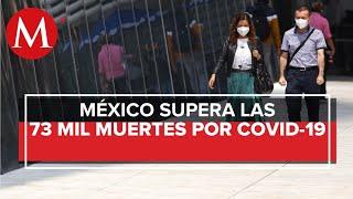 Suman 73 mil 697 muertes por covid-19 en México