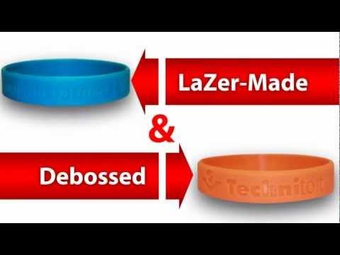 Lazermade wristband vs Debossed wristbands Explained