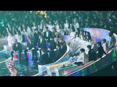 181201 BTS, GFRIEND, WannaOne Reaction to THE BOYZ (더보이즈 무대보는 방탄소년단 여자친구 워너원) 4K 직캠 by 비몽