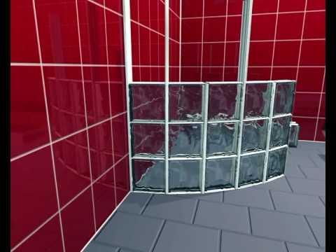 block lock 360 montagesystem f r runde w nde aus glasbausteinen youtube. Black Bedroom Furniture Sets. Home Design Ideas