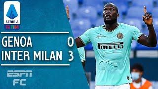 Genoa 0-3 Inter Milan: Lukaku and Sanchez lift Inter to second   Serie A Highlights