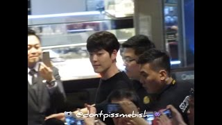 KIM WOO BIN & GANG DONG WON IN SINGAPORE 170112