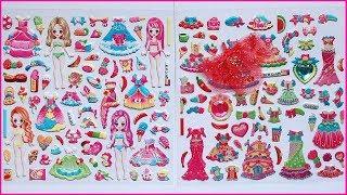 Đồ chơi dán hình váy đầm búp bê công chúa, 100 hình dán đẹp nhất - Sticker dolly toys (Chim Xinh)