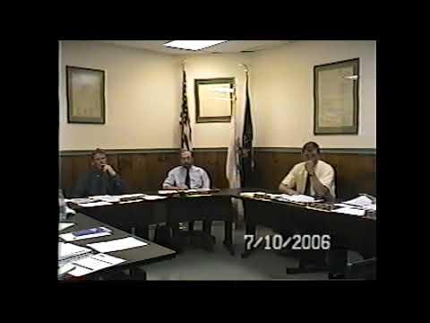 Champlain Village Board Meeting  7-10-06