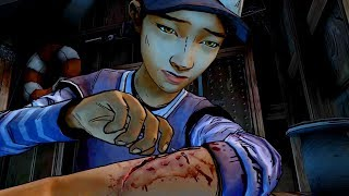 Rambo Style: Clementine Stitches Herself (Walking Dead   Telltale Games)