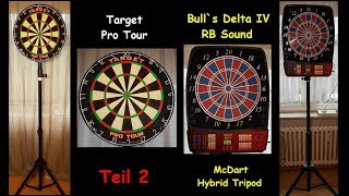 Bulls Delta IV RB Sound & Dartständer Hybrid Tripod (Unboxing & Test) Teil 2
