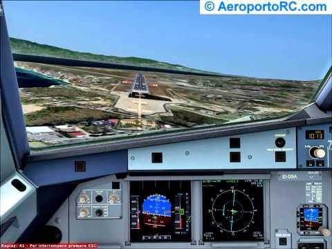A320 Atterraggio Pista 33 Reggio Calabria LICR FSX