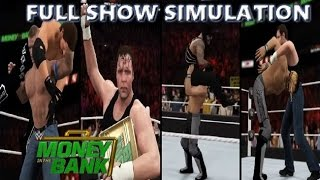 WWE 2K16 SIMULATION: MONEY IN THE BANK 2016 FULL SHOW HIGHLIGHTS