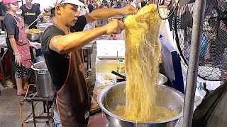 The Famous Noodle Street Food w/ Huge Seafood and Dim sum