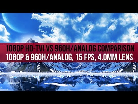 1080P HD-TVI Daytime Video Compared to 960H/Analog Video