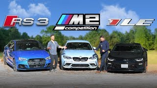 Audi RS3 vs BMW M2 Competition vs Camaro SS 1LE - Is There An Answer?