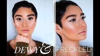 DEWY Skin + FAUX Freckles!! | Nathalie Hering