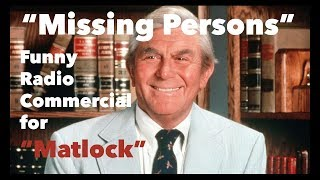 """""""Missing Persons"""" • Funny Radio Commercial for Matlock • Great Copywriting Example by Walt Jaschek"""