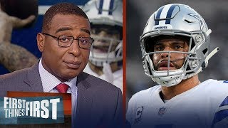 Dak needs to be more efficient as a passer, Zeke's holdout - Cris Carter   NFL   FIRST THINGS FIRST