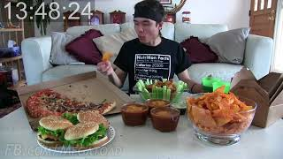 20,000 Calorie Superbowl Challenge Wings, Doritos, Pizza