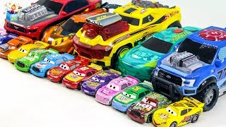 Learning Color Disney Cars Lightning McQueen city Vehicle Nursery Rhyme Play for kids car toys