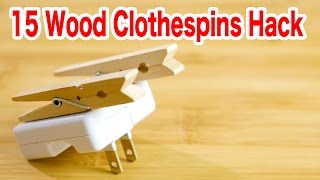 15 Things You Can Make From Wood Clothespins【DIY】