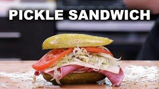 DIY Pickle Sandwiches 🥒🥪  // Weird Food 101