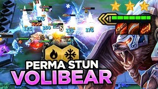 6 GLACIAL HYPERSTACKED VOLIBEAR! PERMASTUNS! | Teamfight Tactics