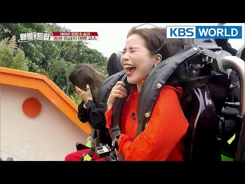 A brave challenge of Moon Byul&Solar to ride the roller coaster! Are they laughing or crying??