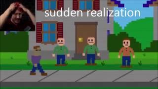 FNAF Memes | Markiplier Reactions to Purple Guy! + GOLDEN FREDDY ENDING! (Sister Location FNAF)