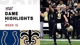 Colts vs. Saints Week 15 Highlights | NFL 2019