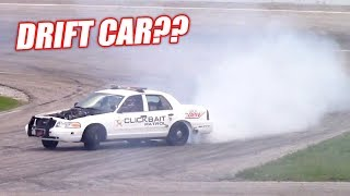 Taking Our 900hp Retired Cop Car Drifting... IT LOVES IT!