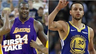 Shaq's 2001 Lakers vs Steph's 2018 Warriors: Who would win? | First Take