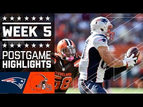 Patriots vs. Browns | NFL Week 5 Game Highlights