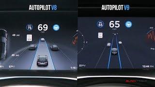 Tesla Versus - Autopilot v8 VS Autopilot v9!