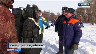 Чтобы создать карту опасных троп на реке Иртыш, омские спасатели используют беспилотник