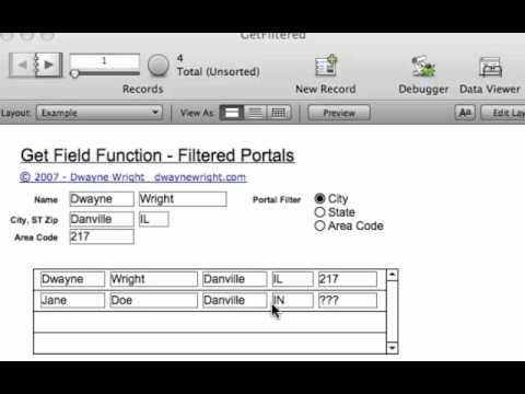 Using FileMaker Get Field In Portal Filtering