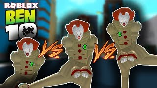 PENNYWISE VS. PENNYWISE (IT Clown) | Ben 10 Arrival of Aliens on Roblox