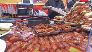 Biggest Italian Street Food Event from the World. Huge Grills, Meat, Seafood. Italy Street Food