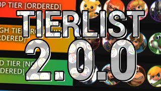 My Smash Bros. Ultimate 2.0.0 Tier list